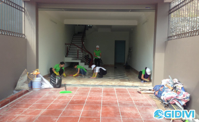 Dịch vụ dọn vệ sinh nhà mới xây dựng xong - GiDiVi